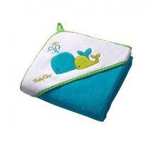 BABY ONO - Osuška s kapucňou Velour 100x100 - blue