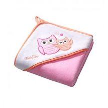 BABY ONO - Osuška s kapucňou Velour 100x100 - pink