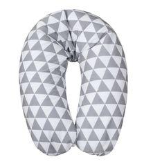 BABYMATEX - Vankúš na kojenie Relax bielo-šedá, 170cm
