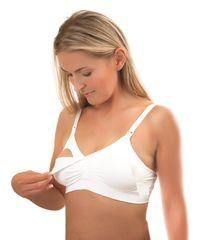 BABYONO - Podprsenka pre tehotné a dojčiace ženy White veľ. B75-80