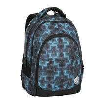 BAGMASTER - Študentský batoh DIGITAL 8 C BLACK/BLUE/GREEN
