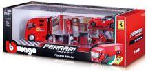BBURAGO - Bburago 1:43 Ferrari Race & Play Hauler Kamión s jedným autíčkom 31202
