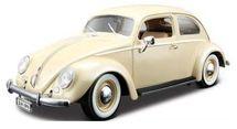 BBURAGO - Volkswagen Käfer Beetle rok výroby 1955 1:18 Gold
