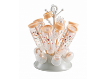 BEABA - Odkvapkávač kojeneckých fľašiek sivá/ružová