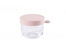 BEABA - Téglik na jedlo sklenený 150ml ružový
