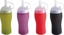 BERGNER - Silikónová fľaša na omáčky/dresing, mix farieb