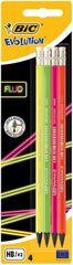 BIC - Fluo Evolution HB Ceruzka s gumou Neón 4ks