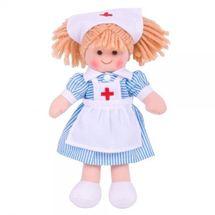 BIGJIGS - Látková bábika Zdravotná sestrička, 27cm