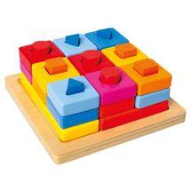BINO - 72438 Vkladacie tvary na doske farebné