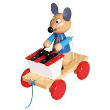 Bino - 80035 Ťahacia Myška s xylofónom