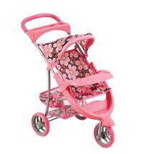 BINO - 82920 Kočík pre bábiky ružový