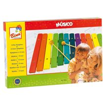 BINO - 86554 Farebný drevený xylofón