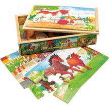 Bino - 88015 Puzzle Zvieratká v krabičke 4 druhy