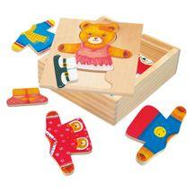 Bino - 88048 Puzzle Šatníková skriňa - medvedica