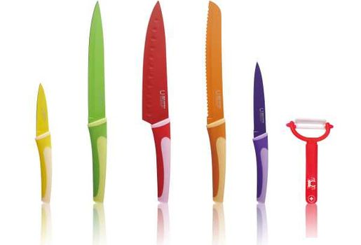 BLAUMANN - Nože kuchynské 5ks a Škrabka