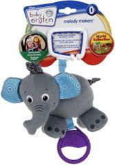 BRIGHT STARTS - Hračka na C-krúžku s melódiou 0m+ slon