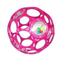 BRIGHT STARTS - Hračka OBALL RATTLE 10 cm, 0m+, ružová