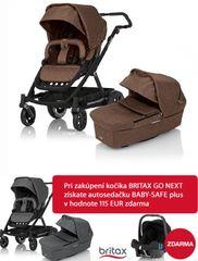BRITAX - Kočík GO NEXT 2015 + Vanička, farba Brown Melange + Akcia Autosedačka BABY SAFE plus zdarma