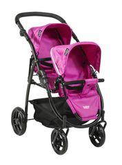 BRITAX - Kočík pre bábiky DUO Twin - Col. Hot Pink