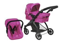 BRITAX - Kočík pre bábiky SMILE 3v1 - Col. Hot Pink