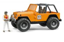 BRUDER - 02542 Jeep WRANGLER Cross Country oranžový s figúrkou jazdca