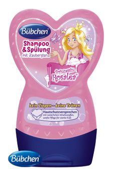 BÜBCHEN - Kids šampón a ošetrujúci balzam na vlasy 2v1 Princezná Rosalea 230ml