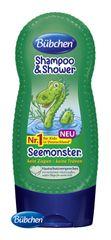 BÜBCHEN - Kids šampón a sprchovací gél 2v1 Morská príšerka 230ml