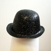 CASALLIA - Karnevalový klobúk trblietavý čierny
