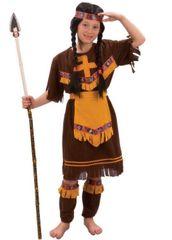 CASALLIA - Karnevalový kostým Indiánka s návlekmi S