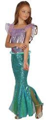CASALLIA - Karnevalový kostým morská panna fialová s volánikmi- L