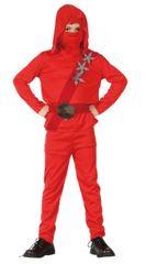 CASALLIA - Karnevalový kostým Ninja v červenom obleku M