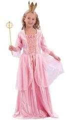 CASALLIA - Karnevalový kostým Ružová princezná S