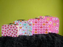 CASALLIA - Sada 3 kufríkov Veselé vzory