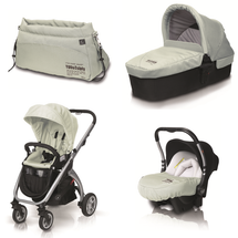 CASUALPLAY - Kočík KUDU 4 alluminium, autosedačka Baby 0plus, vanička Metropol a Bag (2014)