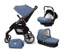 CASUALPLAY - Set kočík LOOP, autosedačka Baby 0plus, vanička Cot a Bag 2017 - Lapiz Lazuli