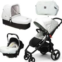 CASUALPLAY - Set kočík LOOP, autosedačka Baby 0plus, vanička Cot a Bag 2015 - ICE