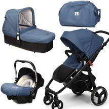 CASUALPLAY - Set kočík LOOP, autosedačka Baby 0plus, vanička Cot a Bag 2015 - LAPIS LAZULI