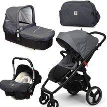 CASUALPLAY - Set kočík LOOP, autosedačka Baby 0plus, vanička Cot a Bag 2015 - METAL