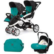 CASUALPLAY - Set kočík pre dvojičky Stwinner, 2 x autosedačka Baby 0plus a Bag 2017 - ALLPORTS