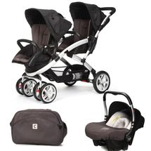 CASUALPLAY - Set kočík pre dvojičky Stwinner, 2 x autosedačka Baby 0plus a Bag 2017 - LAVA ROCK