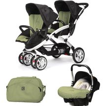 CASUALPLAY - Set kočík pre dvojičky Stwinner, 2 x autosedačka Baby 0plus a Bag 2017 - GRAPE