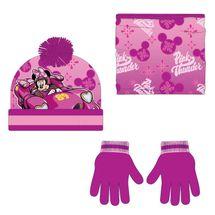 CERDÁ - Zimný set-čiapky, nákrčník, rukavice Minnie