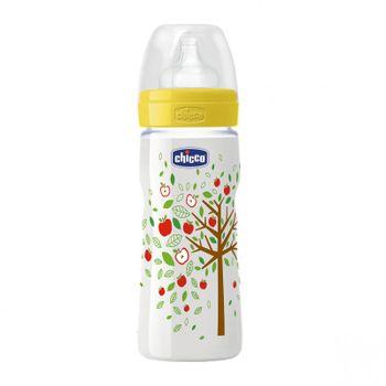 CHICCO - Fľaša bez BPA Well-Being silikónový cumlík rýchly 330ml