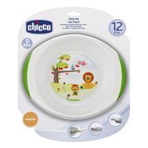CHICCO - Jedálenský set tanier a miska, 12m+