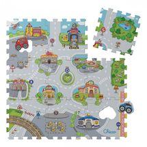 CHICCO - Penové puzzle Mesto 30x30cm 9ks