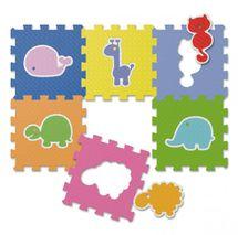 CHICCO - Penové puzzle Zvieratká 30x30cm 6ks