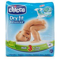 CHICCO - Plienky Midi 4-9kg 21ks