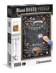 CLEMENTONI - puzzle 1000 Čierna tabuľa -káva