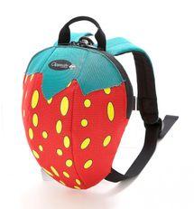 CLIPPASAFE - Detský batoh s odnímateľným vodítkom, Strawberry