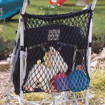 CLIPPASAFE - Sieťkovaná taška na kočík, čierna